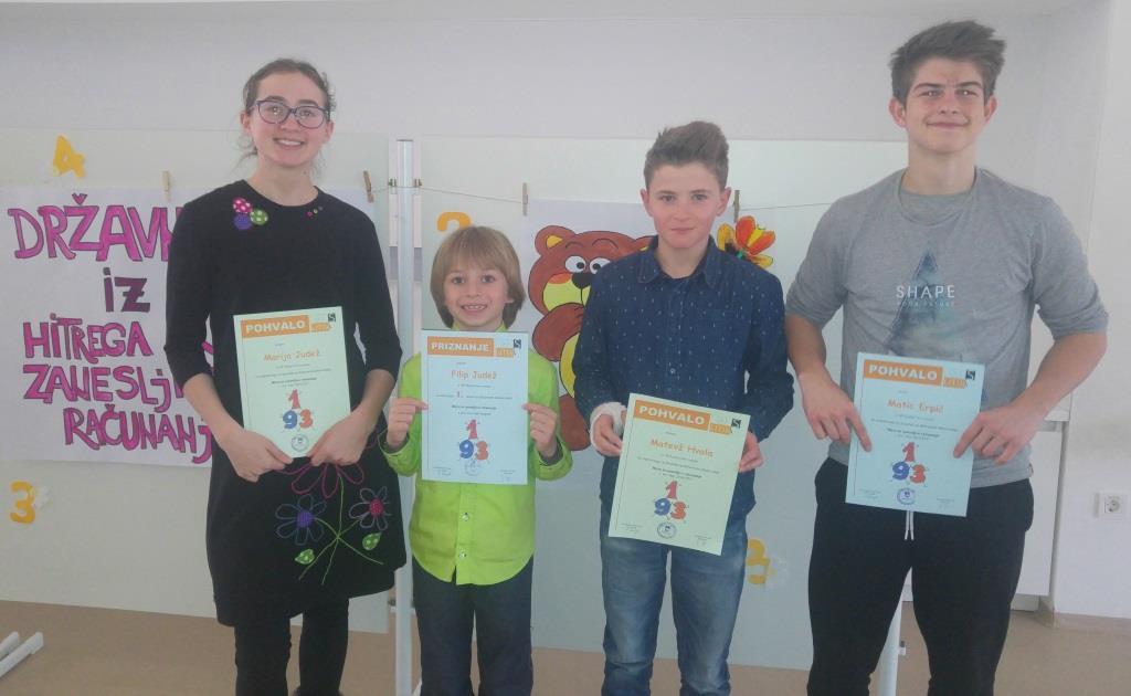 Uspeh finalistov državnega tekmovanja Lefo